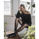 collant noir adriana 30 deniers pour un look vintage et chic