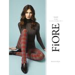 Collant opaque tendance gris à carreaux rouges fiore twist 40 deniers
