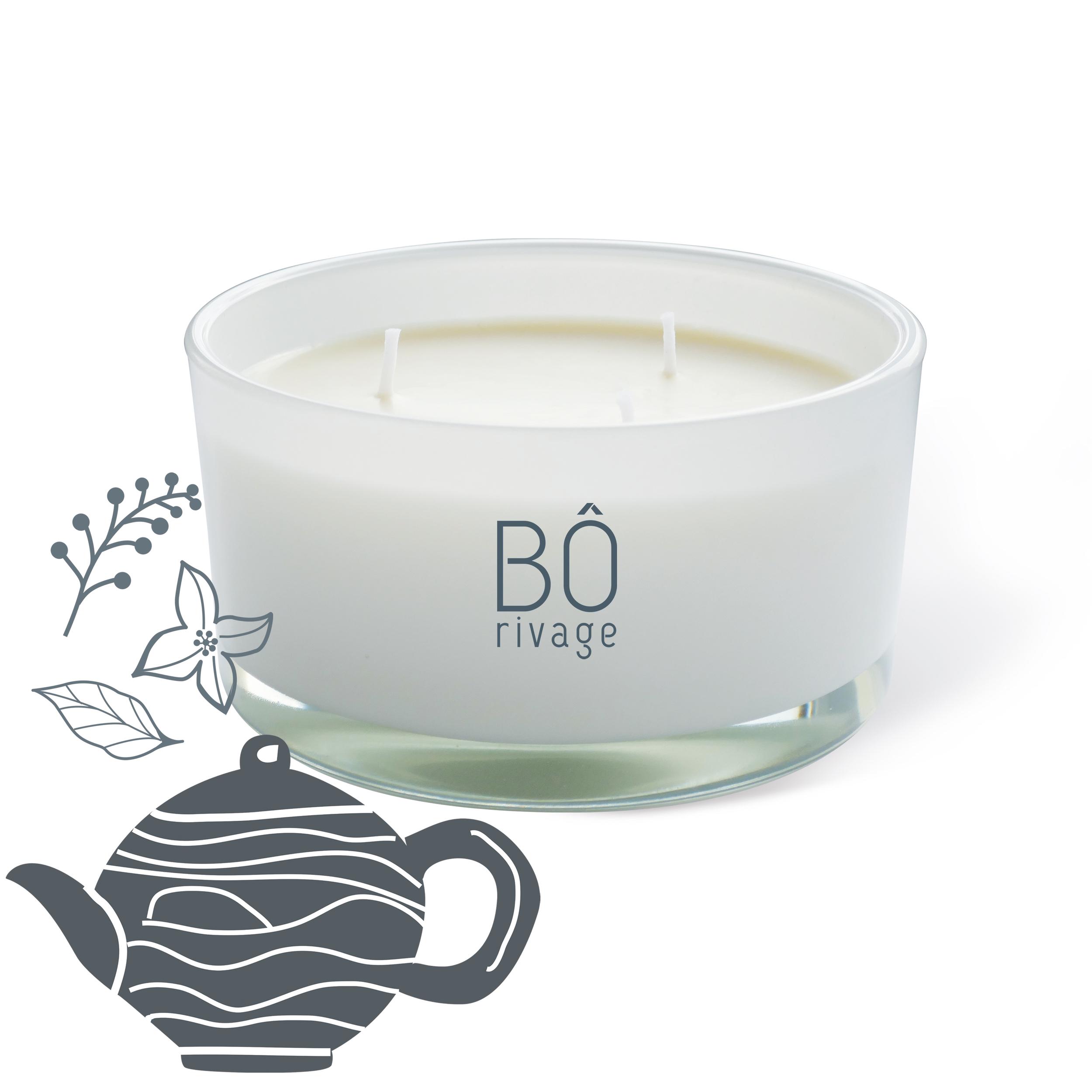 Bougie parfumée Salon de thé 3 mèches 480g