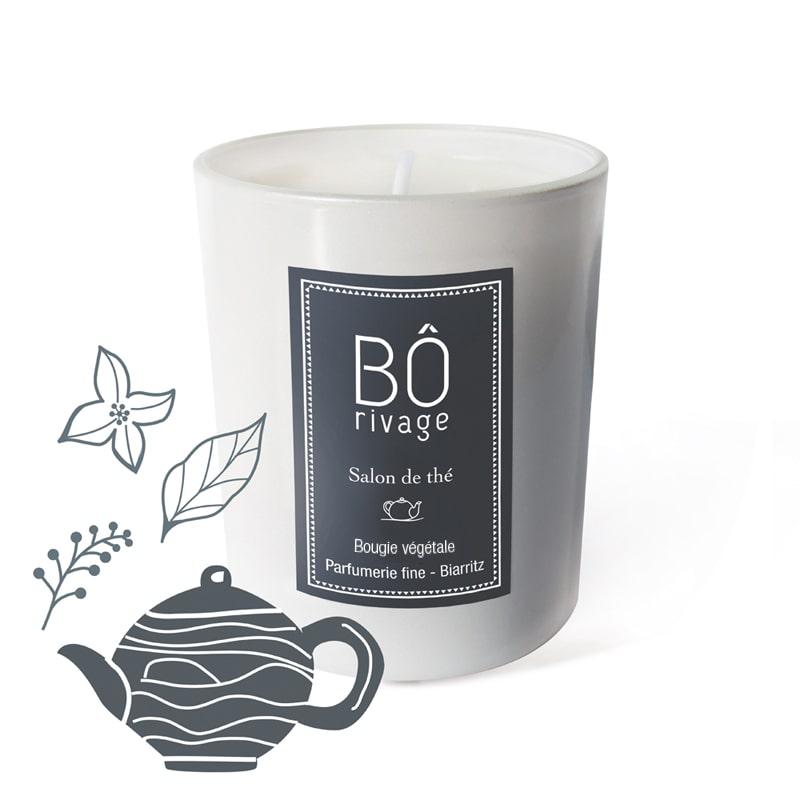 Bougie végétale parfumée Salon de thé Bôrivage