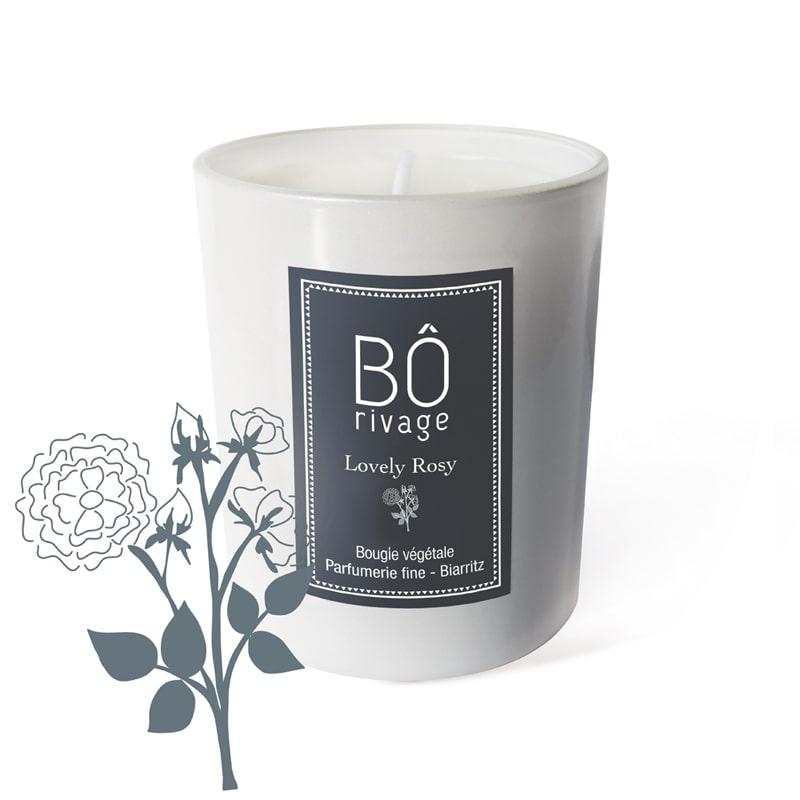 Bougie végétale parfumée Lovely Rosy Bôrivage