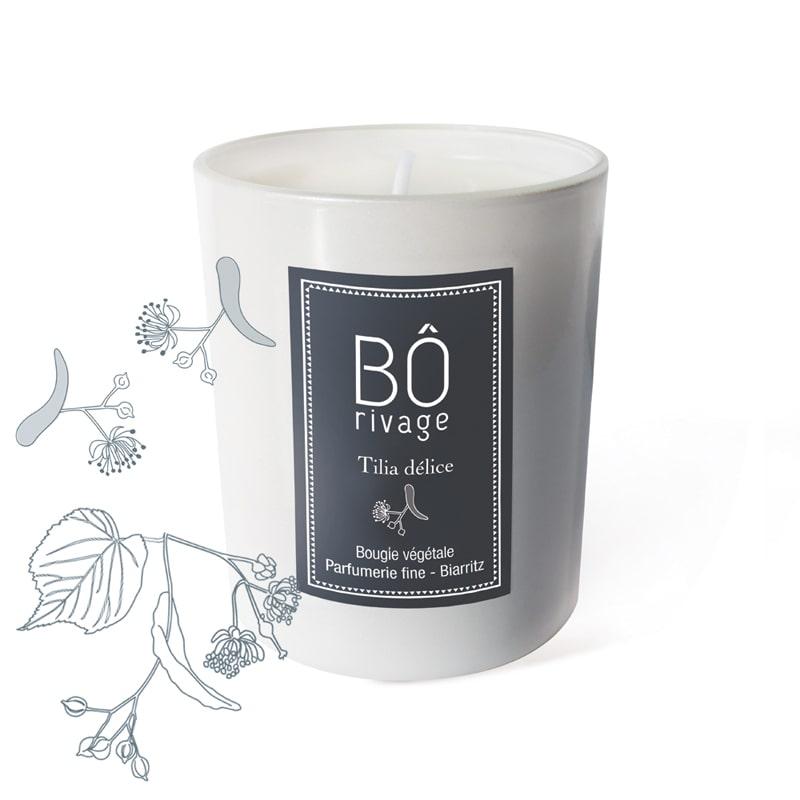 Bougie végétale parfumée Tilia délice Bôrivage