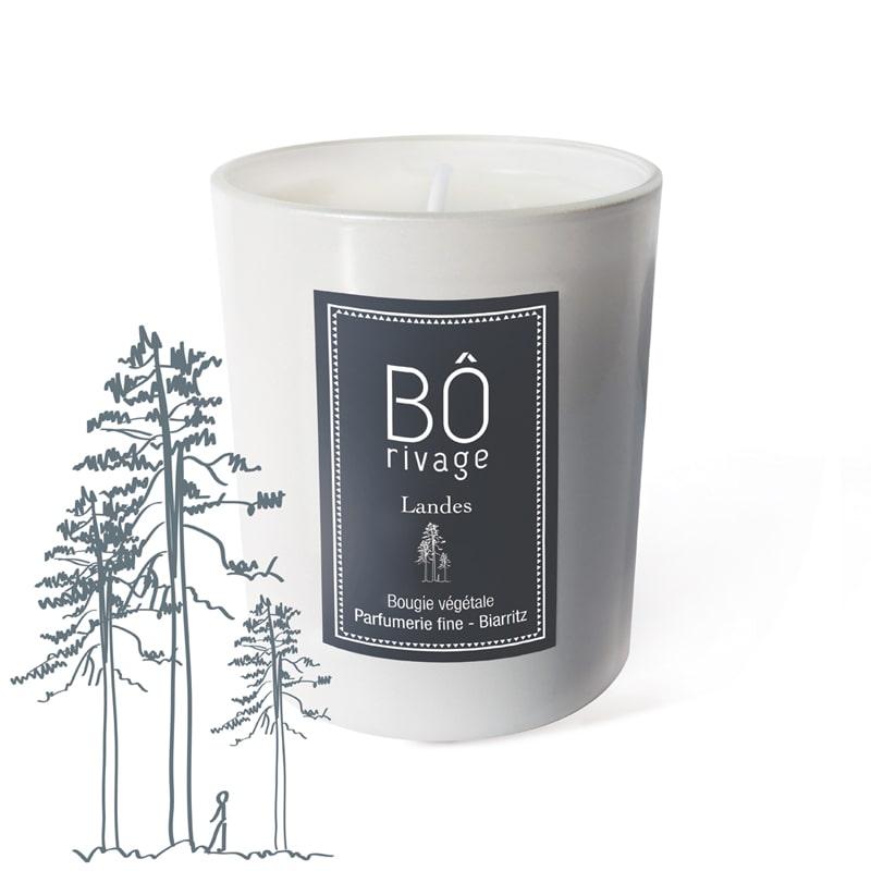 Bougie végétale parfumée Landes Bôrivage