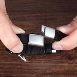 Multi-couche-en-cuir-plume-forme-accessoires-hommes-Bracelet-en-acier-inoxydable-Bracelet-en-cuir-pour