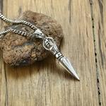 Hommes-acier-inoxydable-Phurba-Kilaya-pendentif-collier-bouddhisme-tib-tain-Vajrayana-bouddhiste-Vajra-Dorje-dague-amulette