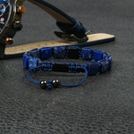 Ailatu-8x8mm-naturel-Lapis-Lazuli-carr-pierre-plat-macram-Bracelet-pour-Couples-amant-cadeau-de-mode