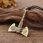 Ma-forme-nordique-Vikings-collier-le-Fehu-Feoh-Fe-Rune-hache-amulette-boussole-viking-runes-pendentif