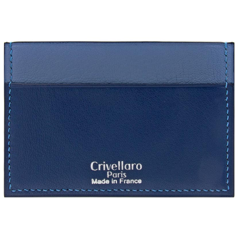 Crivellaro-Porte-carte-slim-chevre-bleu-marine-bleu-clair-1