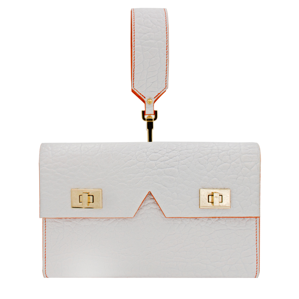 Crivellaro Pochette bubble blanc et Orange