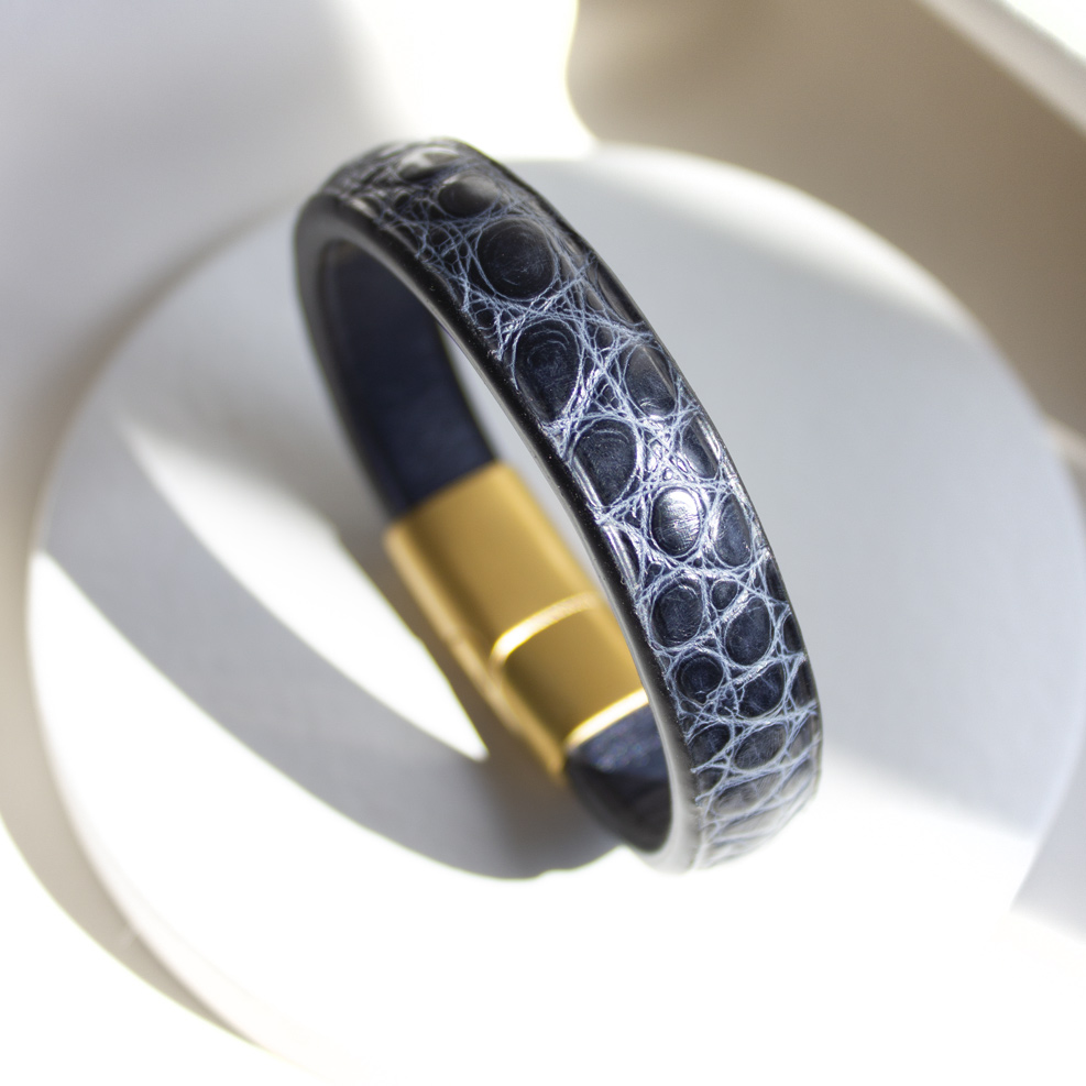 Blue Croco Bracelet