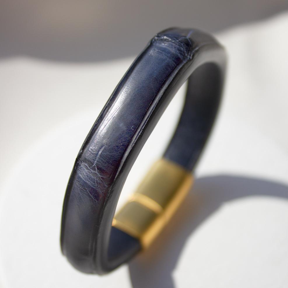 Navy Blue Croco Bracelet