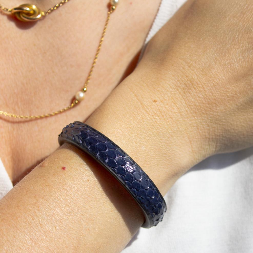 Navy Blue Pyhton Bracelet