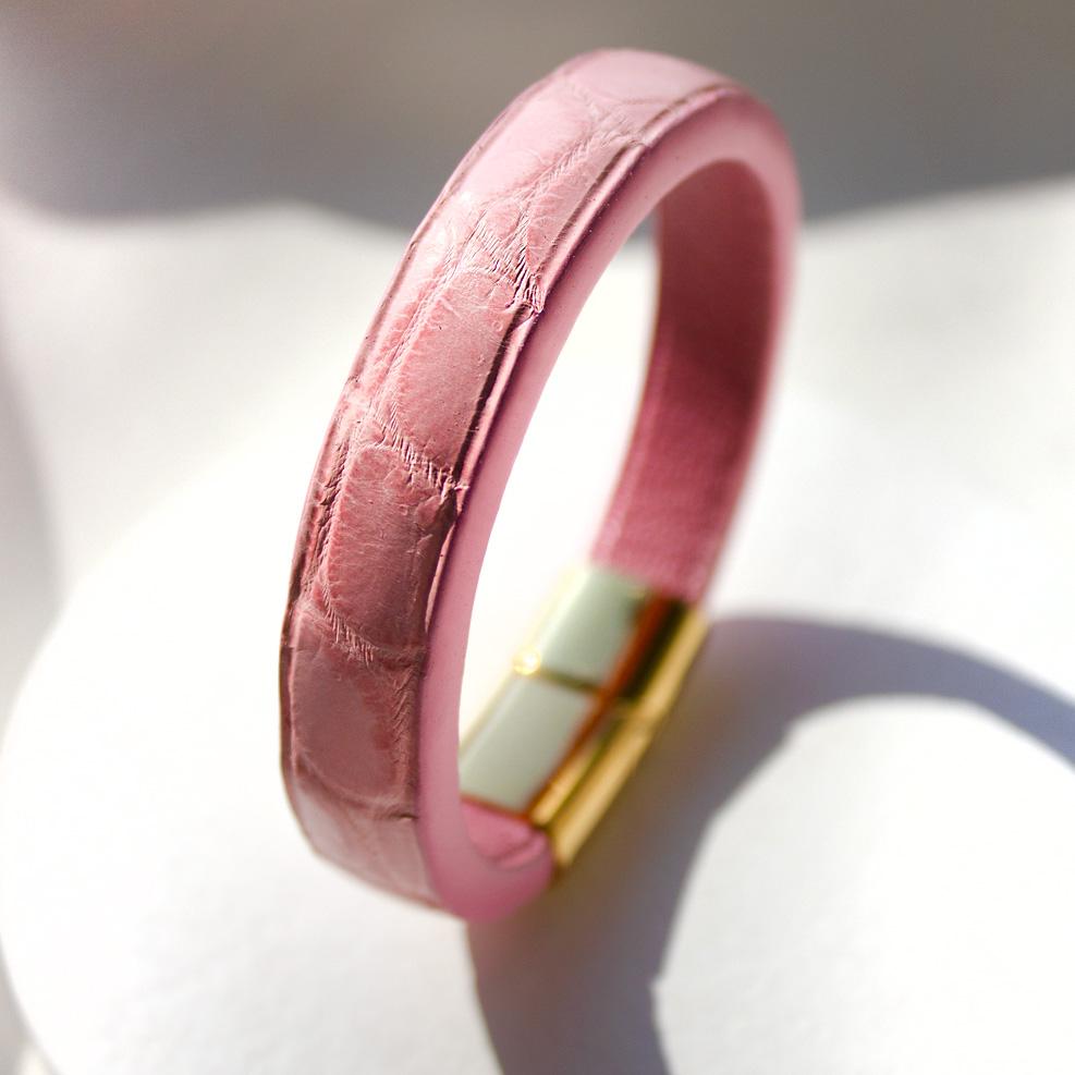 Pink Croco Bracelet