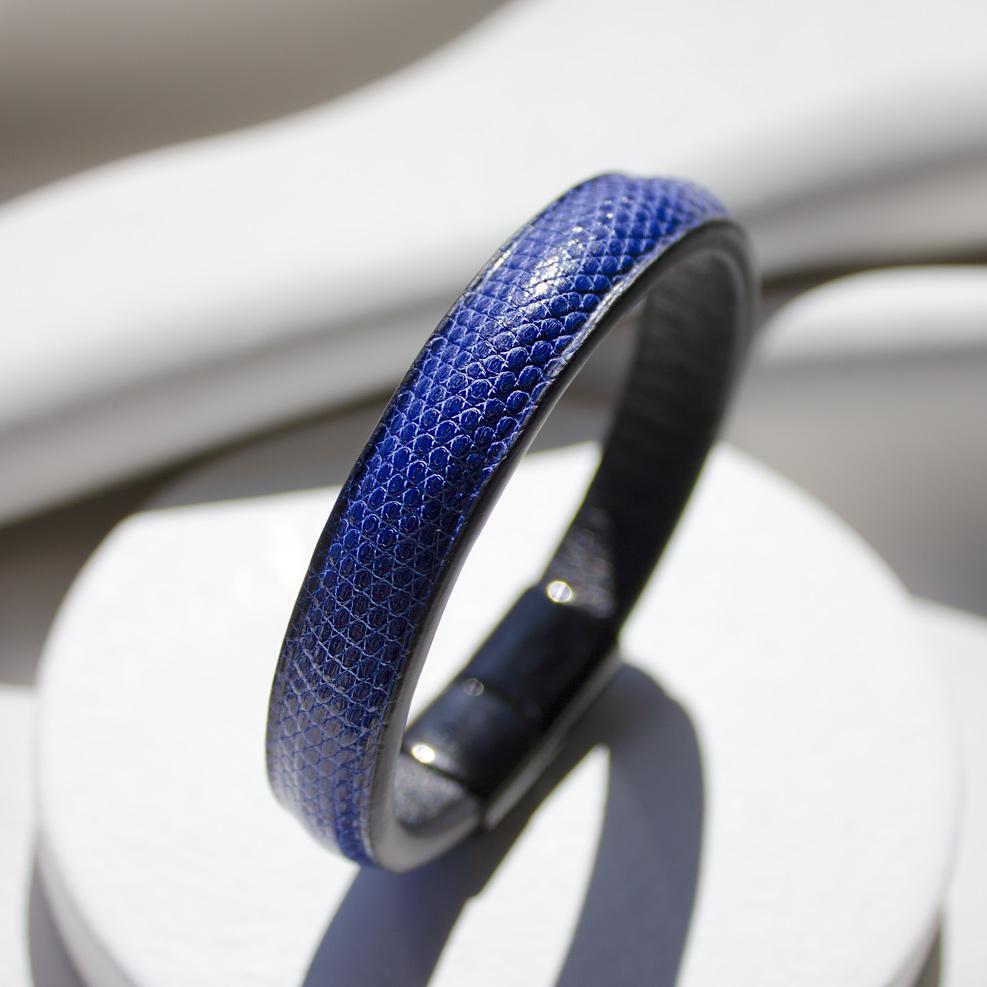 Electric Blue Lizard Bracelet