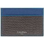 Crivellaro-portes-cartes-SLIM-Croco-Noir-bleu-1
