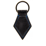 Crivellaro-Porte-cles-croco-noir-fil-bleu-1