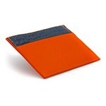 Crivellaro-portes-cartes-SLIM-Orange-Croco-Bleu-2