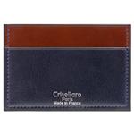 Crivellaro-portes-cartes-SLIM-vegetal-Bleu-Marine-Marron-1