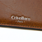 Crivellaro-portes-cartes-SLIM-vegetal-Marron-2
