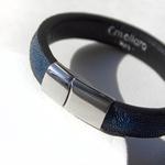 Crivellaro-Bracelet-galuchat-Bleu-2