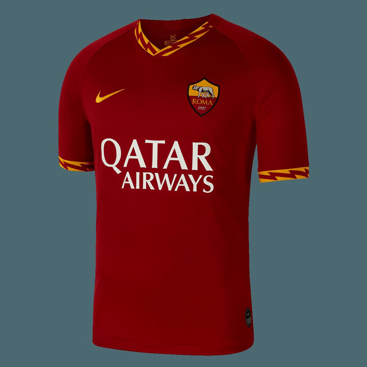 maillot Nike de l'AS Roma pour homme lors des matches à domicile, saison 2019/20
