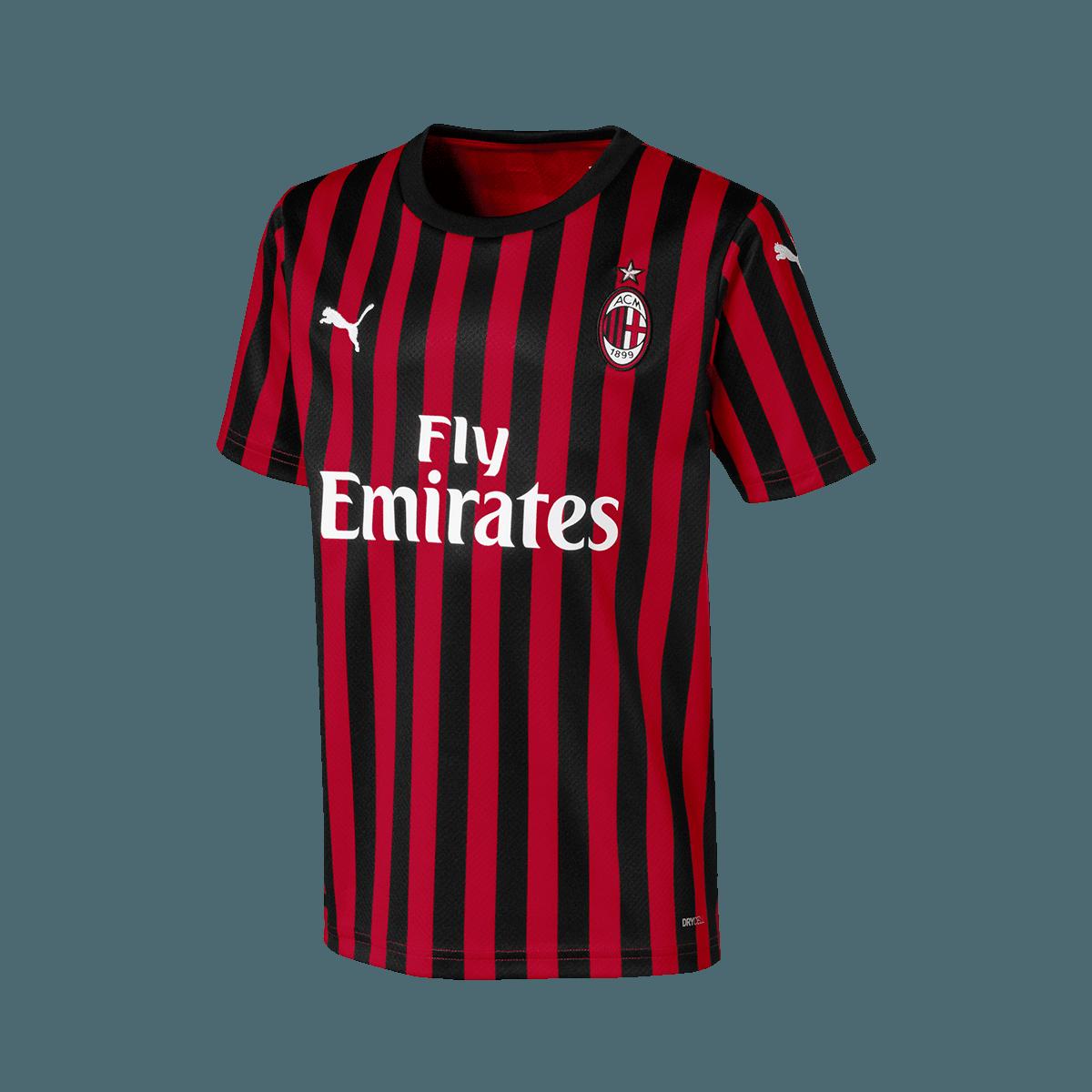 maillot Puma des matches à domicile du Milan AC - saison 2019/20 rouge/noir
