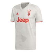 maillots adidas pour les matches à l'extérieur de la Juventus de Turin, homme, saison 2019/20 blanc/rouge