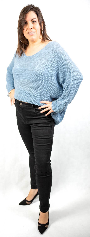 Jeans noir ou bleu stretch