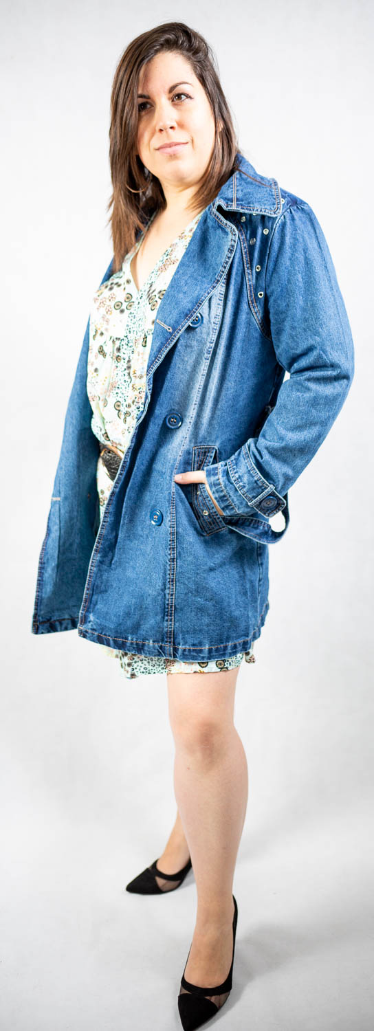 Trench en jeans grande taille