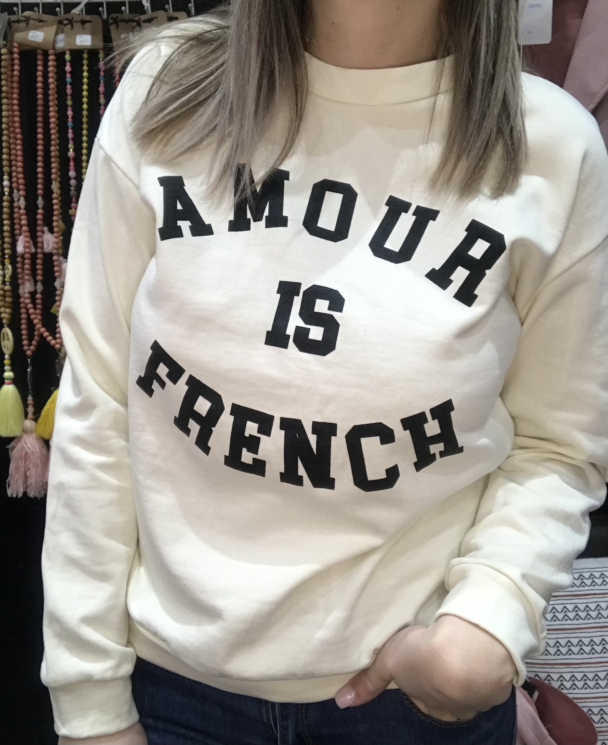 Sweat Amour is French Beige