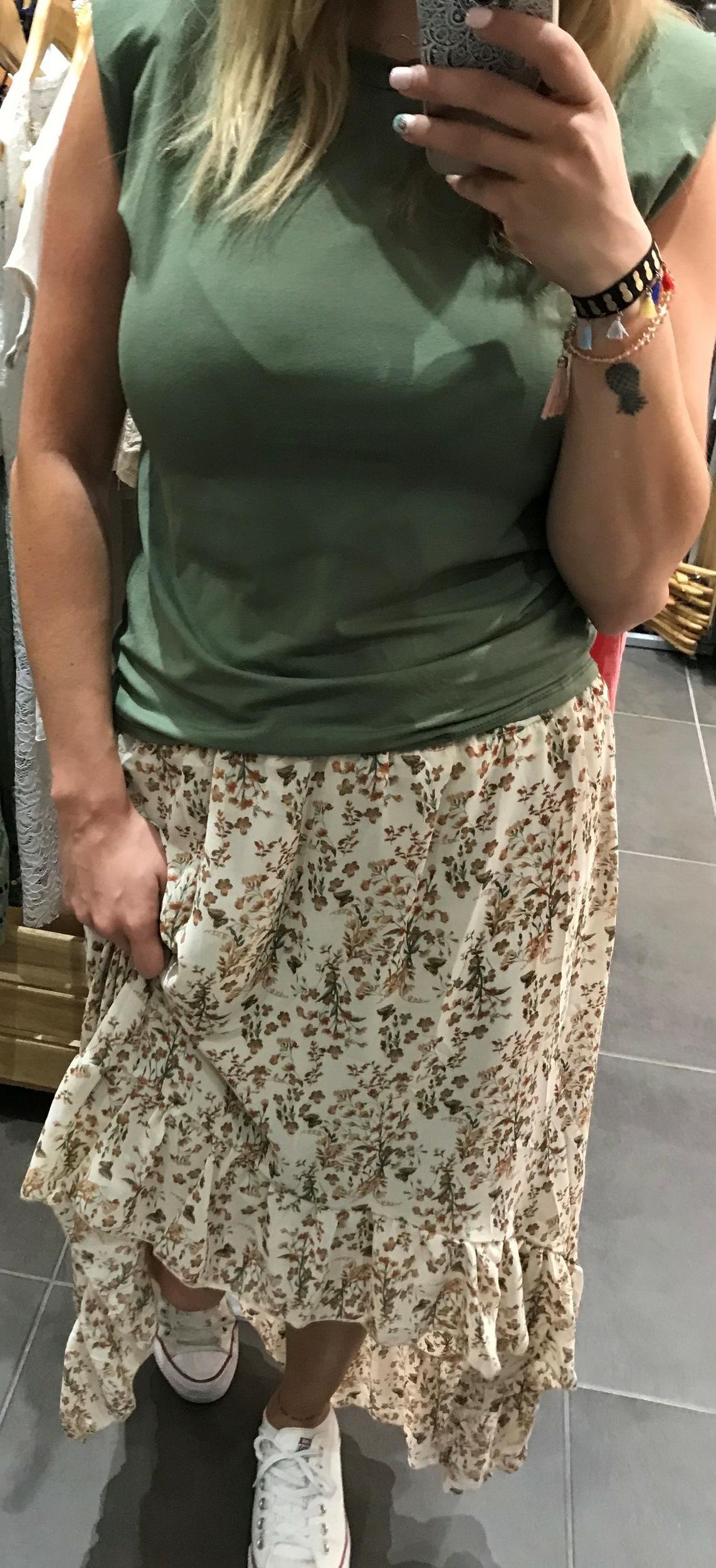 Jupe Flower Beige