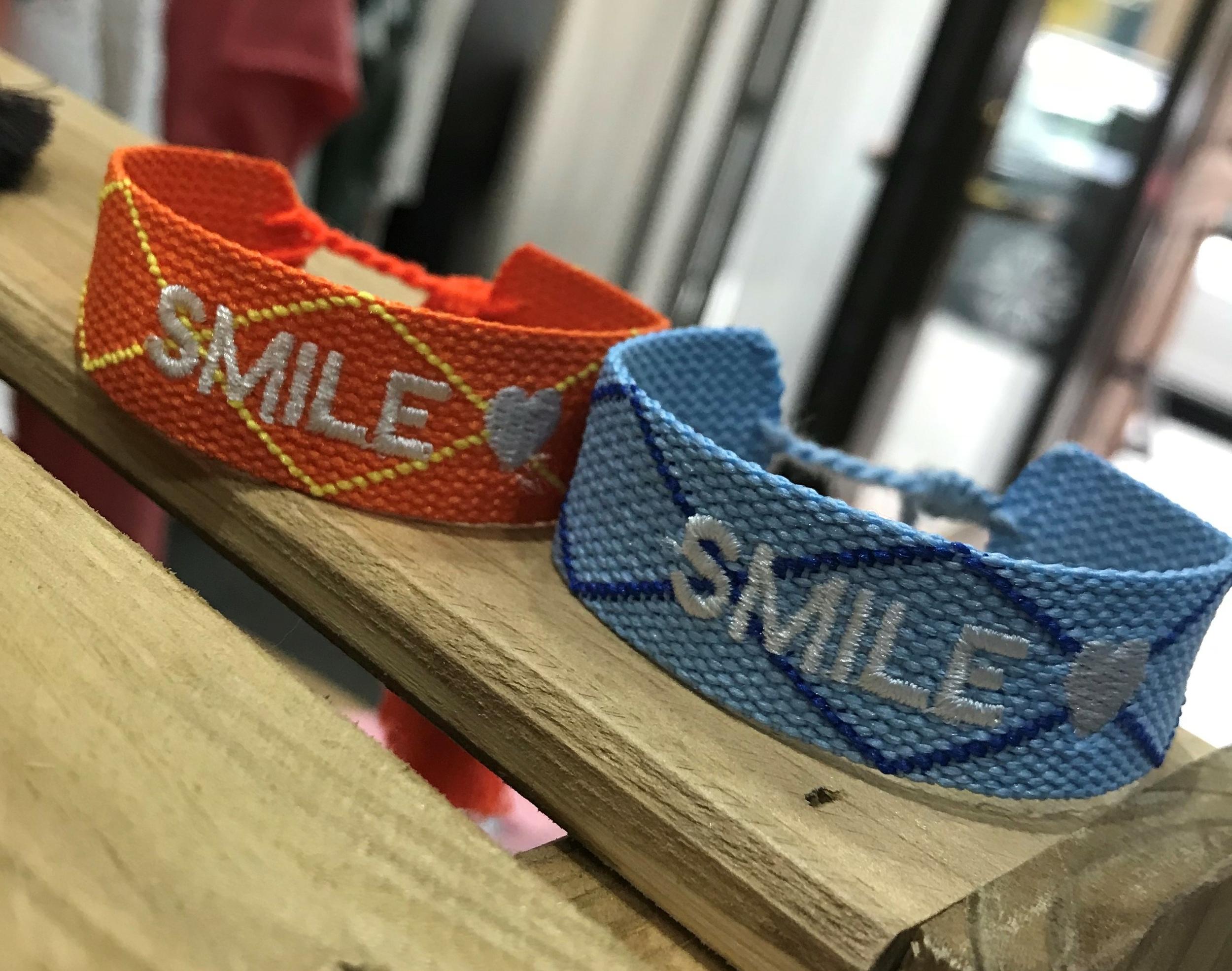Bracelet Smile Tissu
