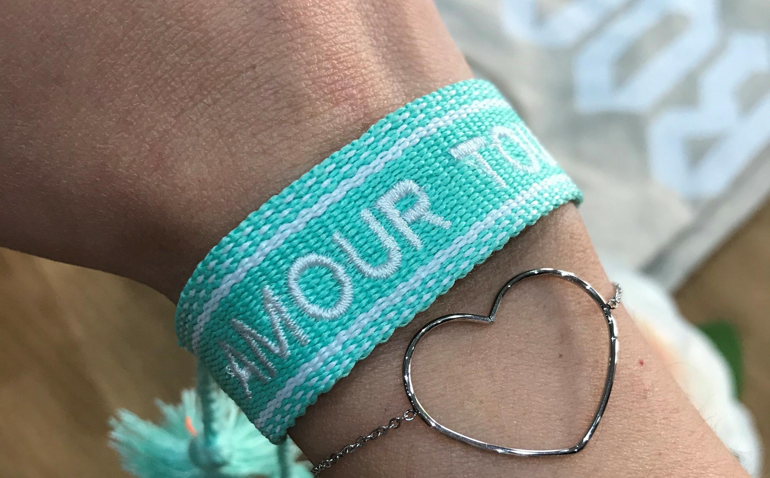 Bracelet Amour Tissus