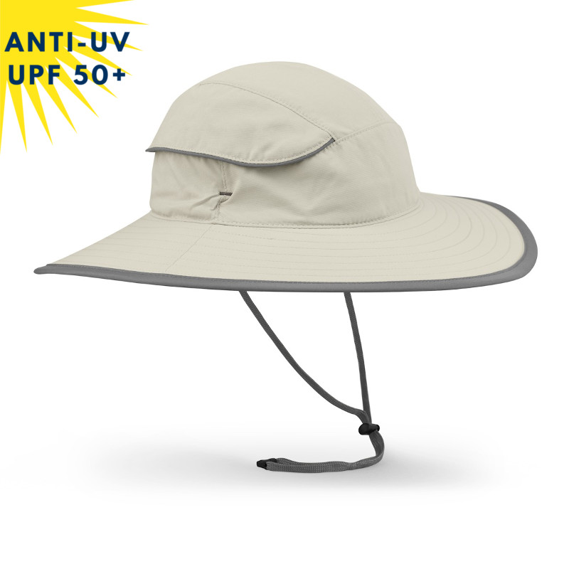 Chapeau anti-uv unisexe COMPASS Crème UPF50+