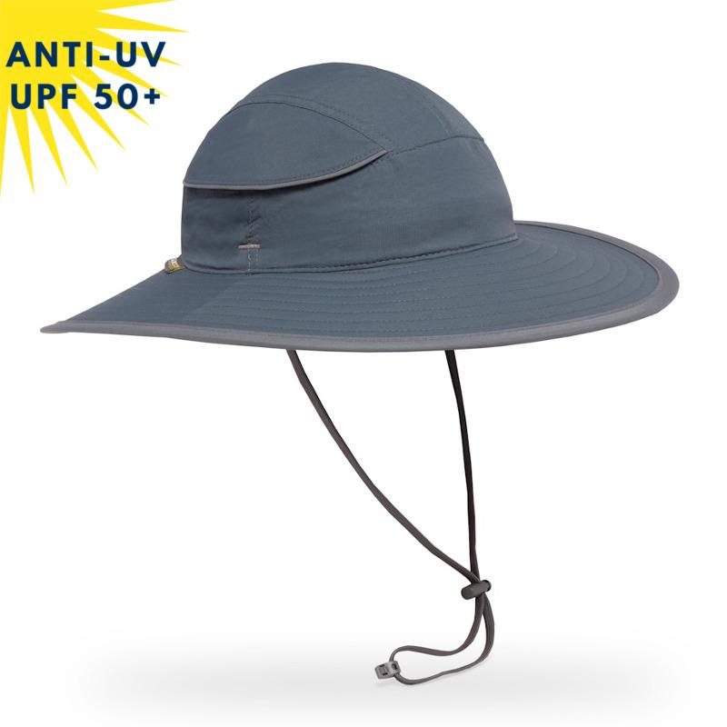 Chapeau anti-uv unisexe COMPASS Minéral UPF50+