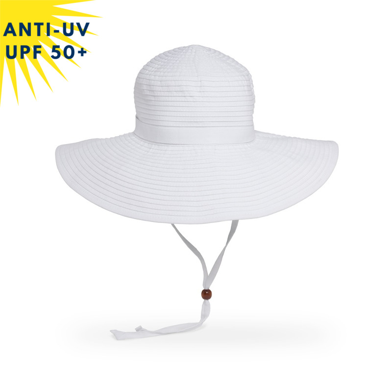 Chapeau anti-uv Femme BEACH HAT Blanc UPF50+
