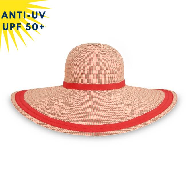 Chapeau anti-uv Femme FLORENCE - Rouge | UPF50+