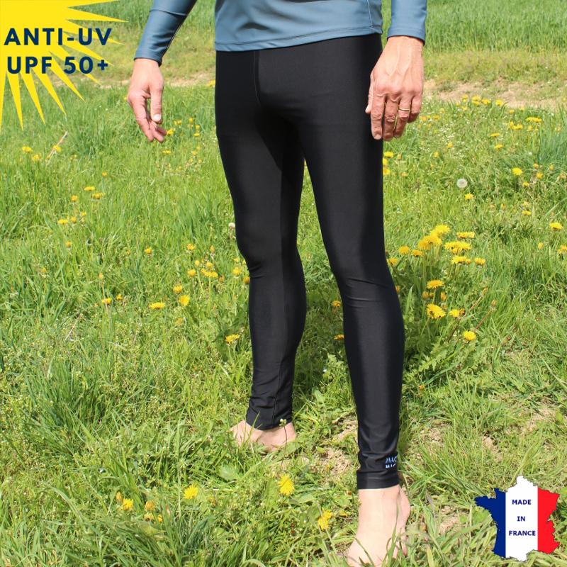 Legging anti-uv homme Noir UPF50+