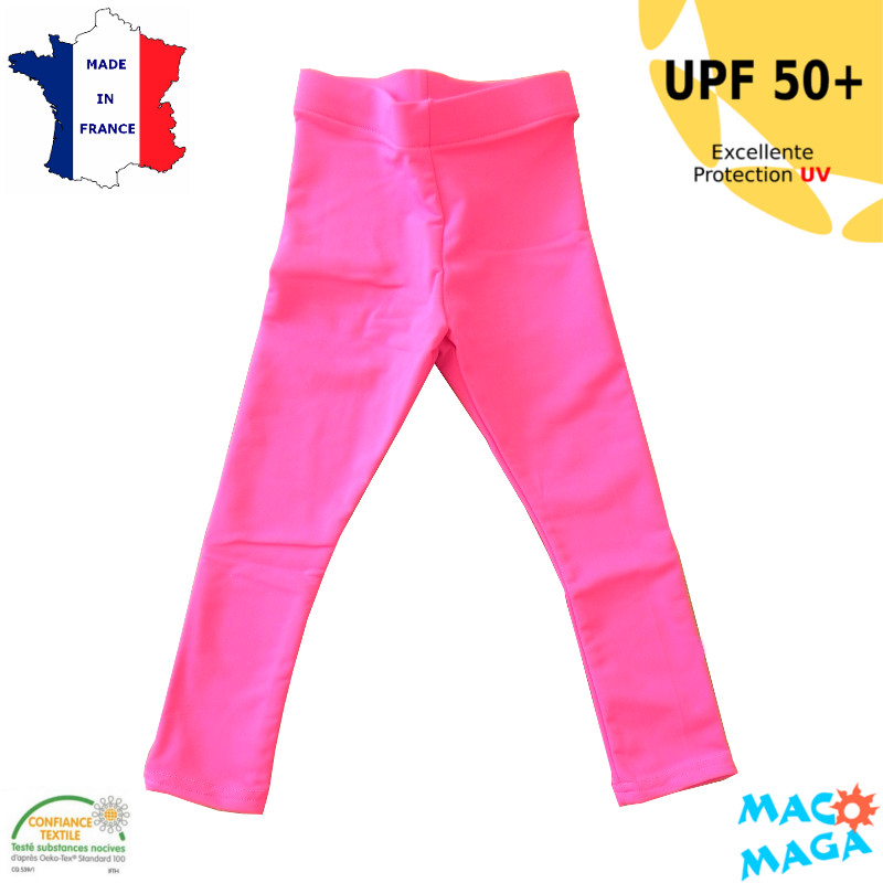 Legging anti-uv Bébé Fuschia UPF50+