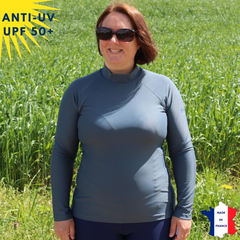 T-shirt de bain anti-uv Femme - Anthracite | UPF50+