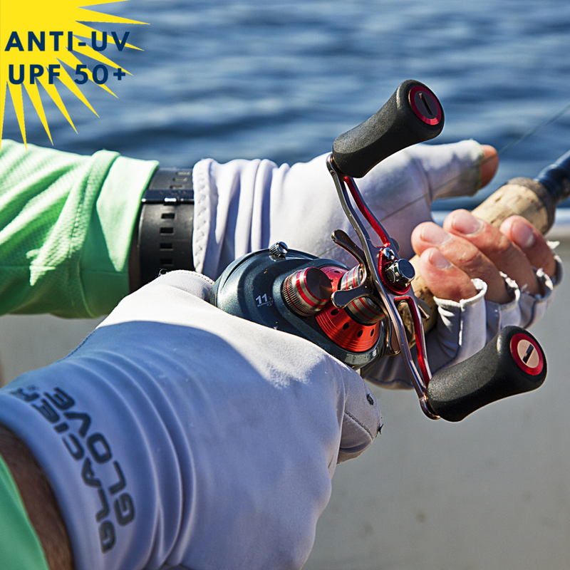Gants sans doigt/Mitaines anti-UV Gris UPF50+