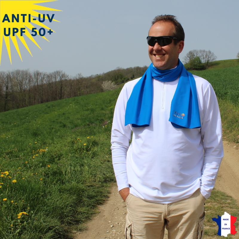 Foulard anti-UV Bleu UPF50+