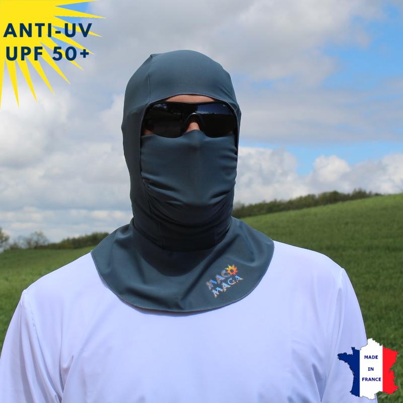 Cagoule anti-UV sans ouverture - Anthracite | UPF50+