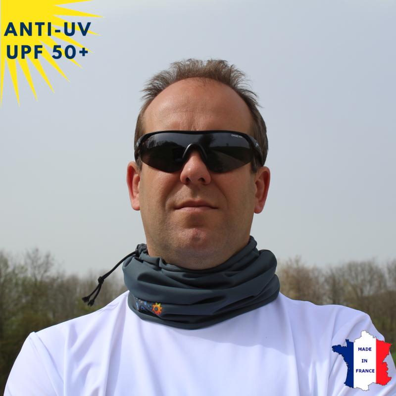 Tour de cou été anti-UV Anthracite - A partir de 9 ans - UPF50+