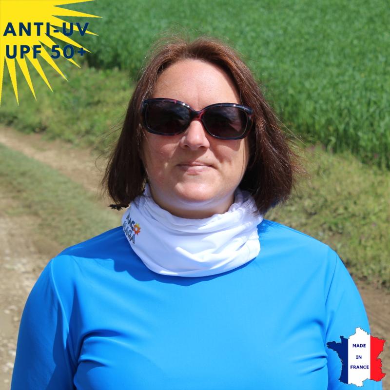 Tour de cou anti-UV - dès 9 ans - Blanc | UPF50+