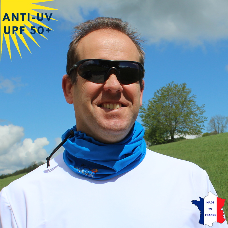 Tour de cou été anti-UV Bleu - A partir de 9 ans - UPF50+
