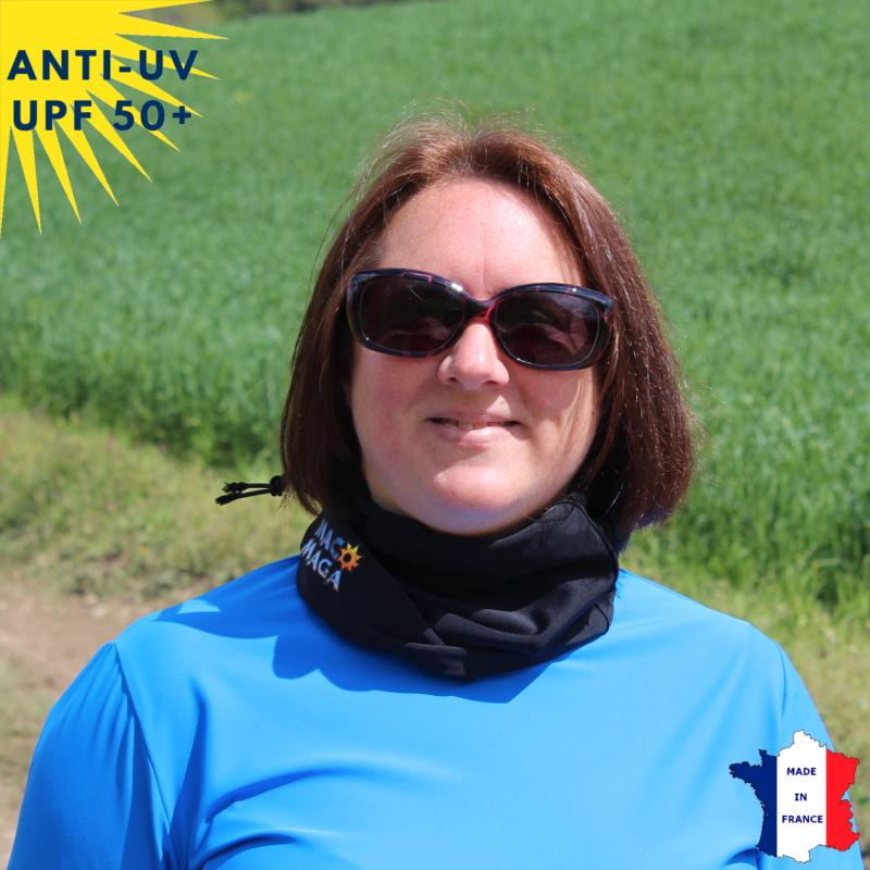 Tour de cou été anti-UV Noir - A partir de 9 ans - UPF50+