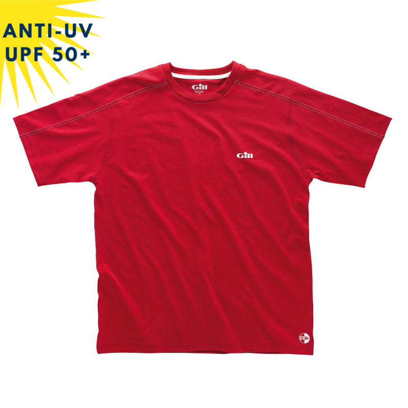 T-shirt anti-uv Homme Rouge UPF50+