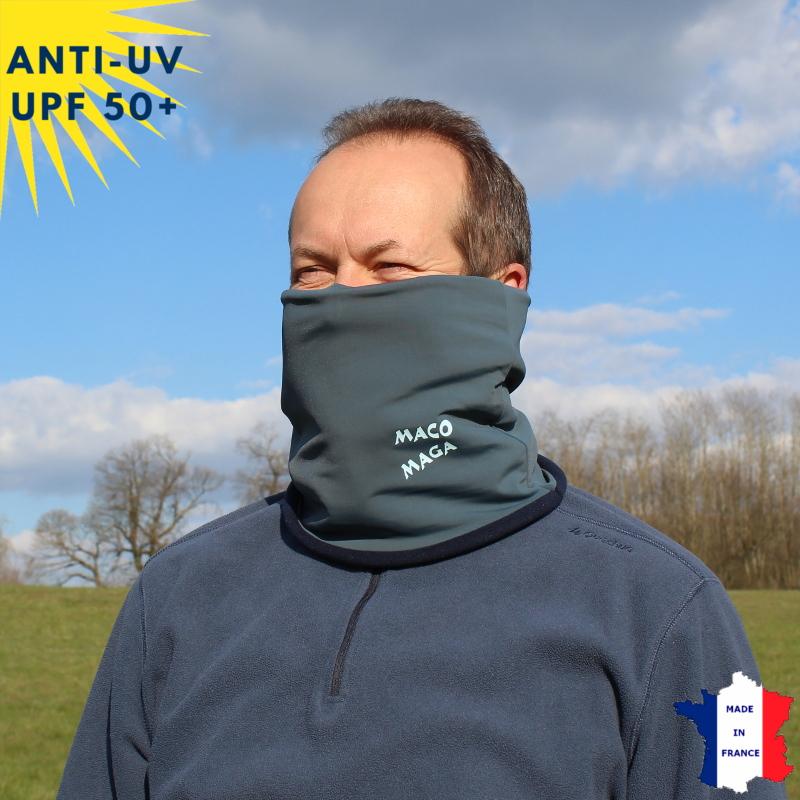 Tour de cou hiver anti-UV Anthracite - A partir de 9 ans - UPF50+