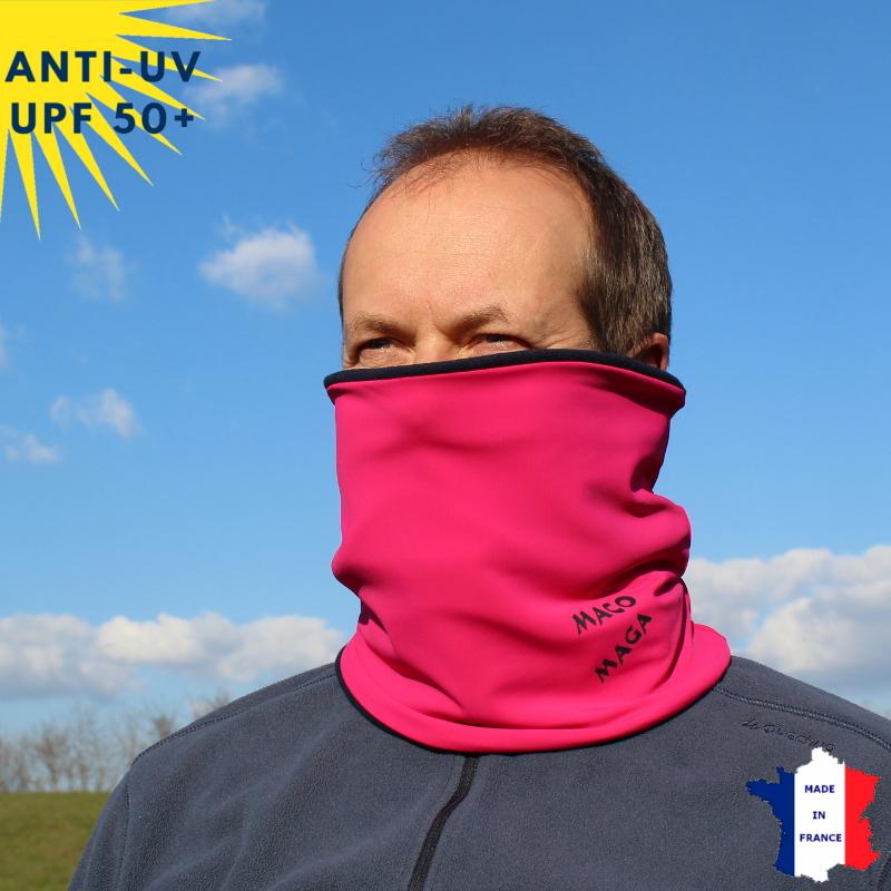 Tour de cou hiver anti-UV Fuschia - A partir de 9 ans - UPF50+